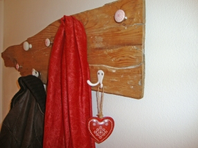 Jasna`s Kreativ-Werkstatt: Garderobe aus Schwemmholz