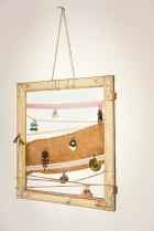Jasna`s Kreativ-Werkstatt: Schmuckhalterung aus altem Fensterrahmen