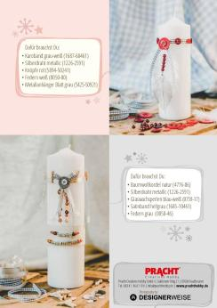 Jasna`s Kreativ-Werkstatt in Pracht Creatives Hobby: Kerzen dekorieren