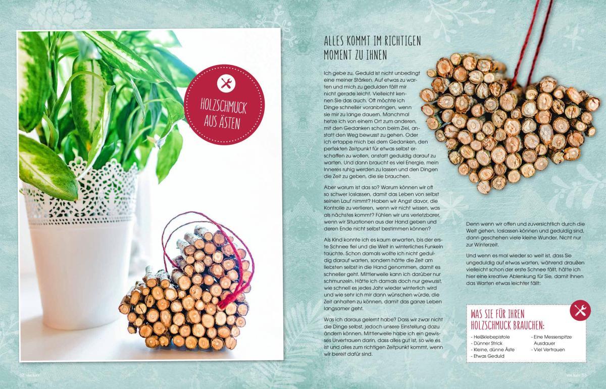 """Jasna`s Kreativ-Werkstatt im """"von hier"""" Magazin von Feneberg: Holzherz aus Aesten"""