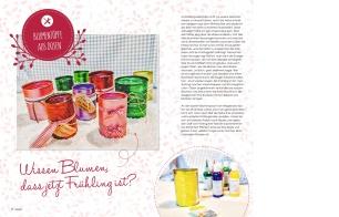 """Jasna`s Kreativ-Werkstatt im """"von hier"""" Magazin von Feneberg: Dosen bemalen als Blumentoepfeim"""