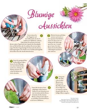 """Jasna`s Kreativ-Werkstatt in """"die Allgäuerin"""": Blumige Aussichten"""