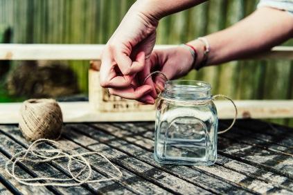 Jasna`s Kreativ-Werkstatt: Kerzenhalter aus Paletten