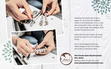 """Jasna`s Kreativ-Werkstatt im """"von hier"""" Magazin von Feneberg: Untersetzer aus Ästen"""