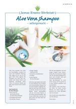 """Jasna`s Kreativ-Werkstatt in """"Dahuim"""" vom Allgäuer Anzeigeblatt: Aloe Vera Shampoo selbermachen"""