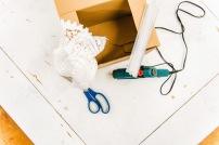 Jasna`s Kreativ-Werkstatt: Upcycling-Karton mit Strick Foto: designerweise