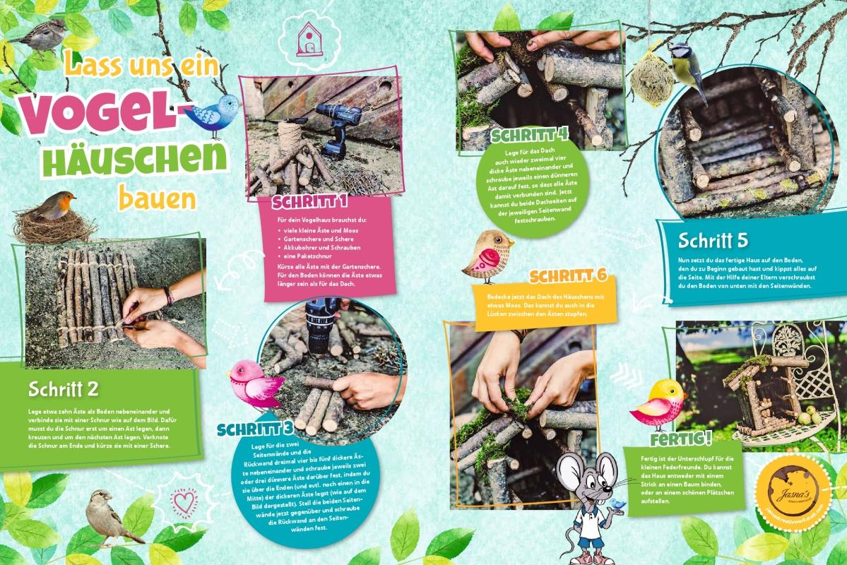 """Jasna`s Kreativ-Werkstatt in der Kinderbeilage """"Allgäu-Kids"""" der Allgäuer Zeitung: Vogelhaus Foto: designerweise"""