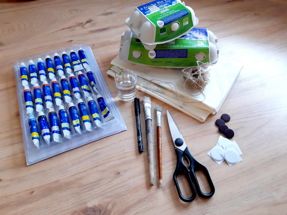 Jasna`s Kreativwerkstatt: Upcycling Eierkartons Foto: Jasna`s Kreativwerkstatt